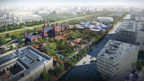 BIG Reveals Updated Vision for Smithsonian Campus Master Plan Scheme