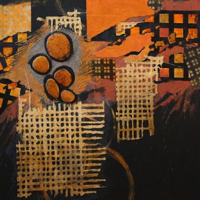 "Mixed Media Abstract Art Painting ""Urban Stones"" By Carol Nelson Fine Art"