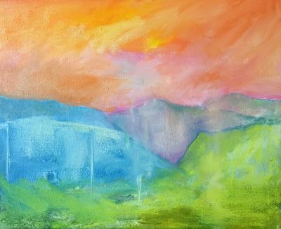 """Contemporary Abstract Landscape, """"New Horizons,"""" by Amy Whitehouse"""