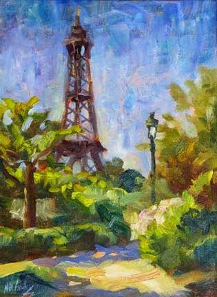 """""""Paris in June"""" Oil Painting by Contemporary Impressionist Niki Gulley"""