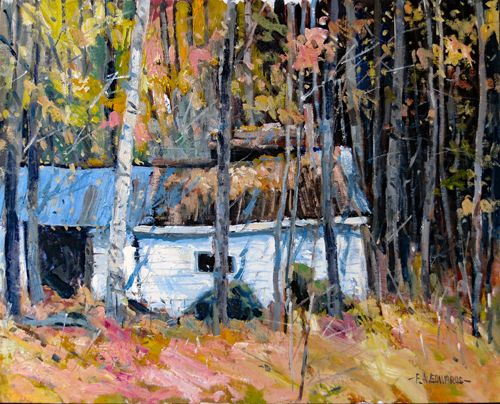 Sugar Shack In Autumn 16in. x 20in. Oil / Canvas Panel