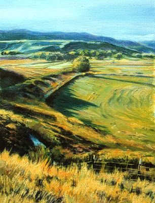 """Colorado Landscape Painting, Western Landscape """"From Meeker to Sleepy Cat"""" by Colorado Artist Nancee Jean Busse, Painter of the American West"""