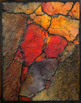 Geologic Abstract Demo II, © Carol Nelson Fine Art