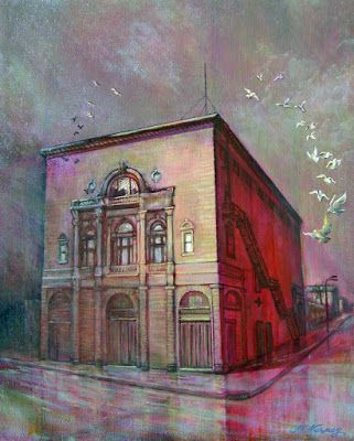 The folly of painting, and The Folly Theater painting