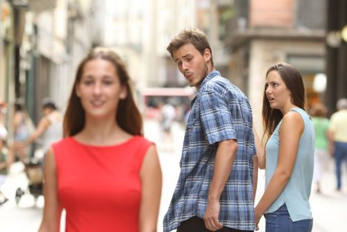 The Story Behind That Viral 'Distracted Boyfriend' Meme Photo