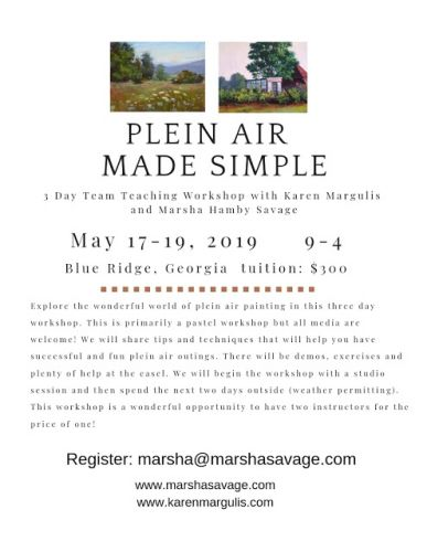 NEW Workshop Opportunity this May in Blue Ridge Georgia!
