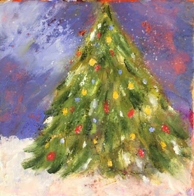 """Holiday Art, """"O Little Christmas Tree,"""" by Amy Whitehouse"""
