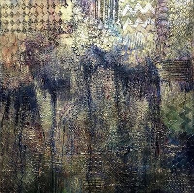 "Contemporary Art, Abstract Painting, Expressionism, Mixed Media, ""Uneven Ground"" by Contemporary Artist Liz Thoresen"