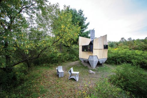 3D Printing and Robotic Construction: HANNAH Office on their Experimental Protoype Ashen Cabin