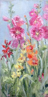 Garden Gifts, New Contemporary Landscape Painting by Sheri Jones