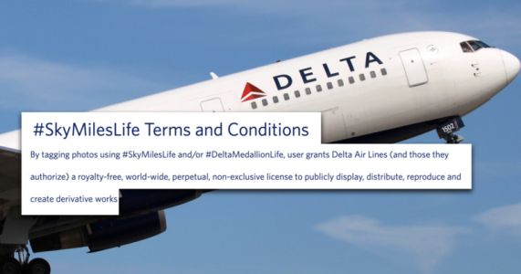 Delta the Latest to Overreach With Photo Rights Grab Via a Hashtag