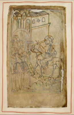 Palm Sunday, Illustrated Medieval Style