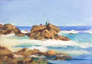 BEACH, ROCKS, OCEAN by TOM BROWN