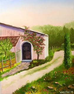 Mark Webster - Tuscan Villa in Siena Oil Painting