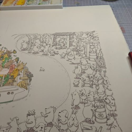 Working on the other side, for Dance Gavin Dance