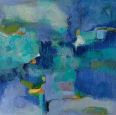 """Contemporary Art, Abstract Painting, Expressionism, Fine Art For Sale """"THE BORDERLAND BETWEEN WAKEFULNESS AND DREAMS"""" by Contemporary Artist Liz Thoresen"""