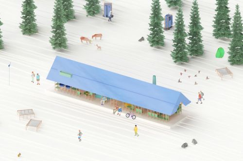 USUS Architectes Propose Modular Design for Millevaches Plateau Competition