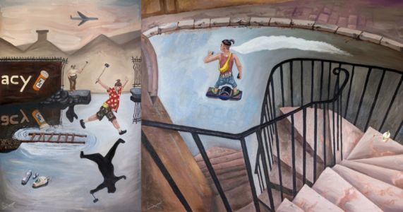 Henri Cartier-Bresson Photos Reimagined as Satirical Paintings