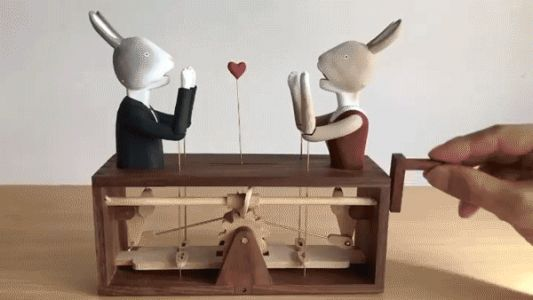Delightful Characters Spring to Life in Hand-Cranked Wooden Automata by Kazuaki Harada