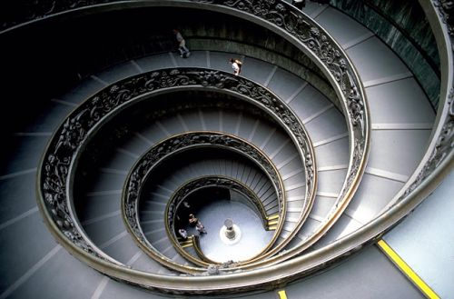 A Spiral Staircase Inside One of the Vatican Museums