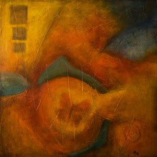 """Original Contemporary Abstract Painting """"Escaping"""" by Contemporary Arizona Artist Pat Stacy"""