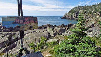 Painting Retreat, Lubec, Maine: Update