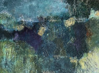"""Contemporary Art, Abstract Painting, Expressionism, Mixed Media, """"SAFE HARBOR"""" by Contemporary Artist Liz Thoresen"""