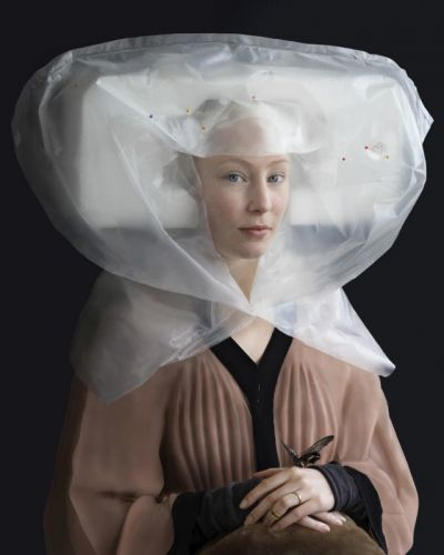 Renaissance Portraits Made with Used Packing Materials