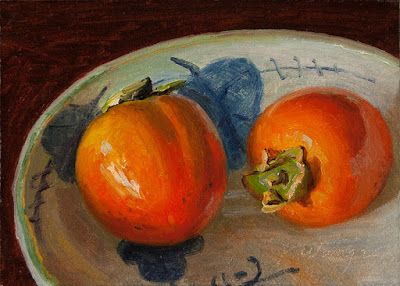 Persimmons painting a day