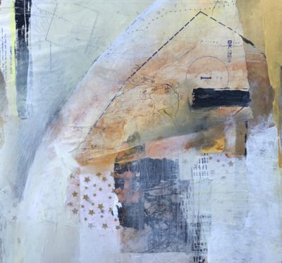 """Contemporary Abstract Art Painting """"Oneness"""" by Intuitive Artist Joan Fullerton"""