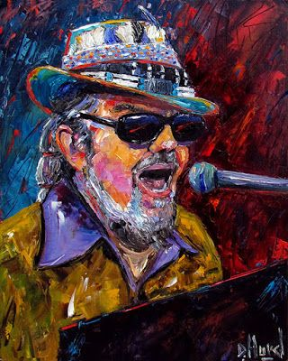 "Dr. John Oil blues Painting Art Jazz Paintings Piano ""Dr. John Portrait"" by Texas Artist Debra Hurd"