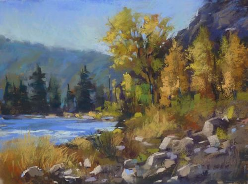 How to Paint Rocks in Pastel