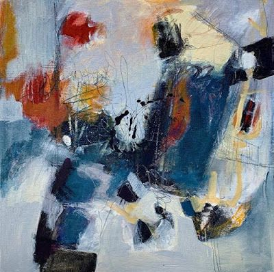 """Expressionism, Contemporary Painting, Abstract Art For Sale """"HEARD"""" by Contemporary Artist Liz Thoresen"""