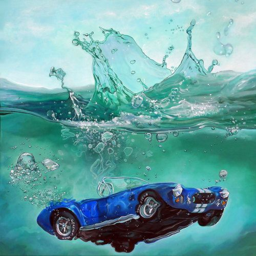 Crossconnectmag: Automotive in Hyperrealistic Paintings by