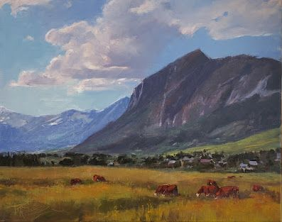 """""""Along Highway 135"""" Colorado landscape painting by Robin Weiss"""
