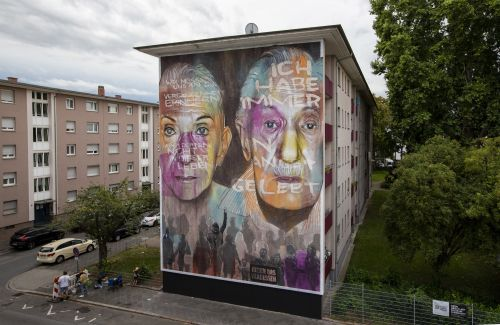 """""""LEST WE FORGET"""" by AKUT in Mannheim, Germany"""