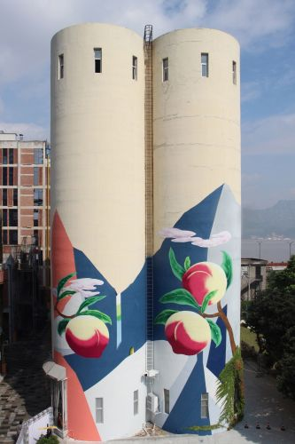 """""""The Peach Land"""" New Mural From Zinan Lam in China"""