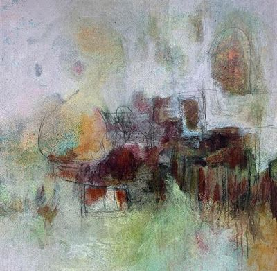 """Expressionism Art, Contemporary Art,Abstract Art For Sale """"Moving On"""" by Contemporary Artist Liz Thoresen"""