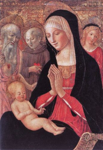 Madonna attributed to Francesco di Giorgio Martini Italian painter, 1439-1502