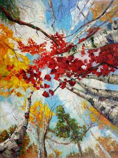 New Palette Knife Treetop Painting by Contemporary Impressionist Niki Gulley