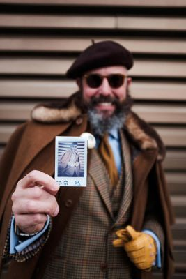 Dapper Portraits with Instax Portraits at a Male Fashion Fair