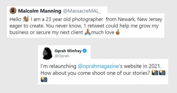 Oprah Spots Struggling Photographer's Tweet, Offers Him a Job