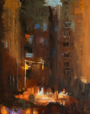 KMA3087 Manhattan Mystery by Colorado artist Kit Hevron Mahoney