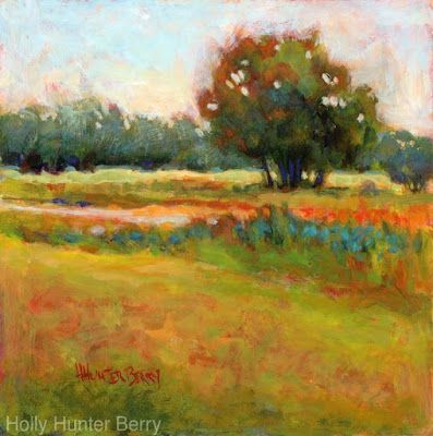 """Contemporary Colorful Landscape Painting, Mixed Media, Fine Art For Sale, """"Solitaire"""" By Passionate Purposeful Painter Holly Hunter Berry"""
