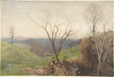 A Watercolor Landscape by J. W. North