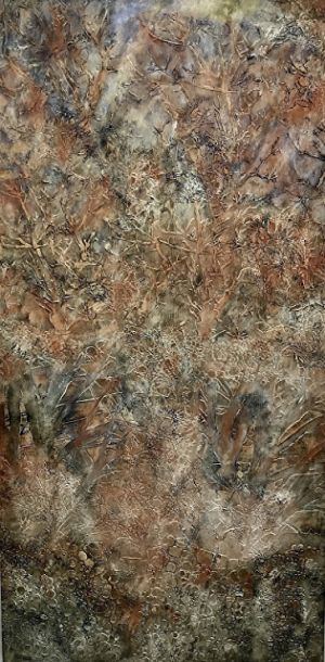 "Contemporary Art, Abstract Painting, Expressionism, Mixed Media, ""Forest Web"" by Contemporary Artist Liz Thoresen"