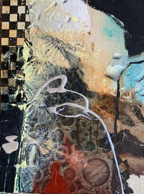 """Contemporary Intuitive Abstract Painting """"Uncertain Times"""" by Intuitive Artist Joan Fullerton"""
