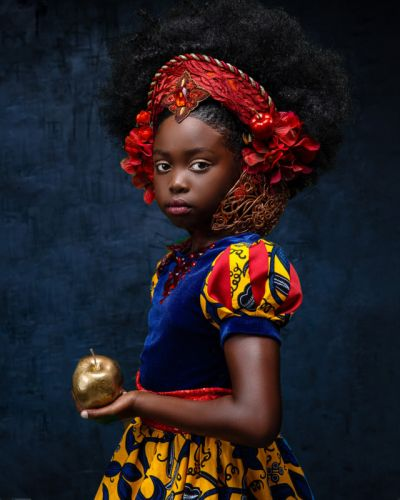 Portraits of Black Girls as Disney Princesses