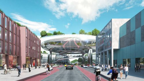 MVRDV Wins Competition to Design the Masterplan of the Ettlinger Tor Area in Karlsruhe, Germany