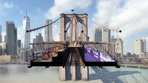 Reimagining Brooklyn Bridge Competition Reveals 6 Finalists, Including a Proposal by BIG